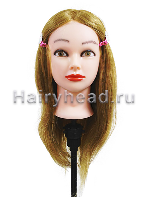 Голова манекен «Анна» 100% натуральный волос 45-50см