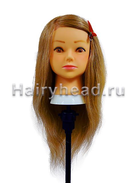 Манекен с натуральными волосами «Амели» 100% нат. 50см, 60см
