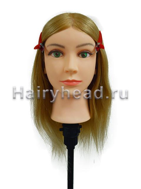Голова манекен Арина 35-40см 100% натуральный блонд