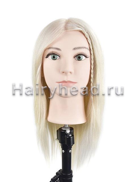 Голова манекен «Арина» 40см 100% натуральный блонд