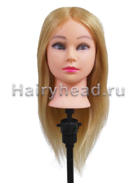 Манекен с натуральными волосами «Арина» 100% нат. 40см