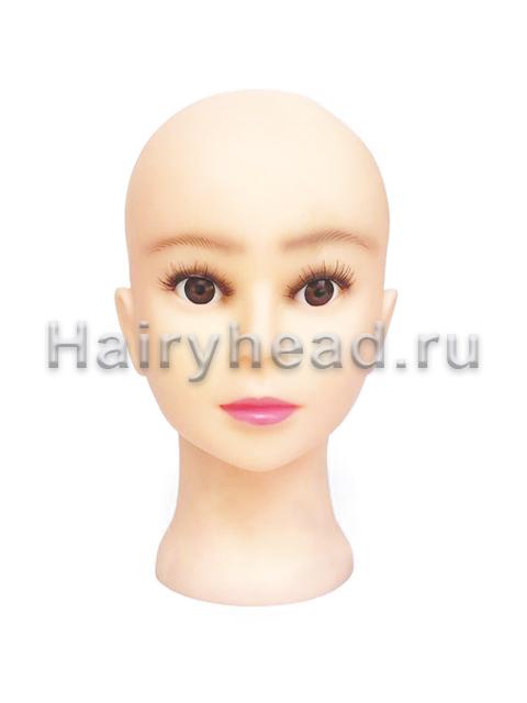 Голова без волос, с ресничками
