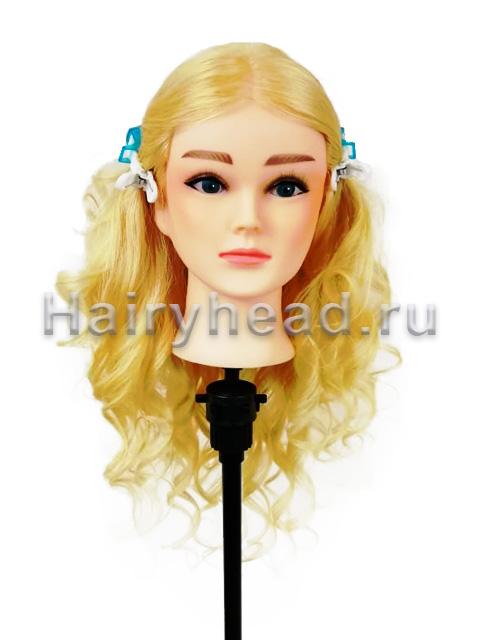 Голова манекен «Катерина» 100% натуральных 60см блонд