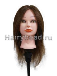 Голова манекен Майя 100% натуральные волосы брюнет 40-45 см