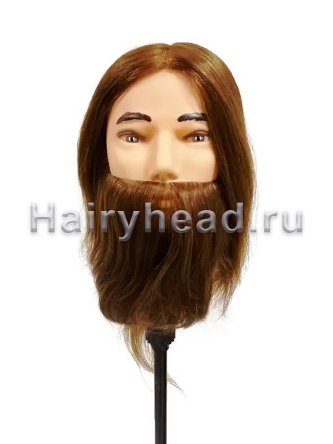 Мужской учебный манекен «Михаил» 30-35см 100% натуральный волос