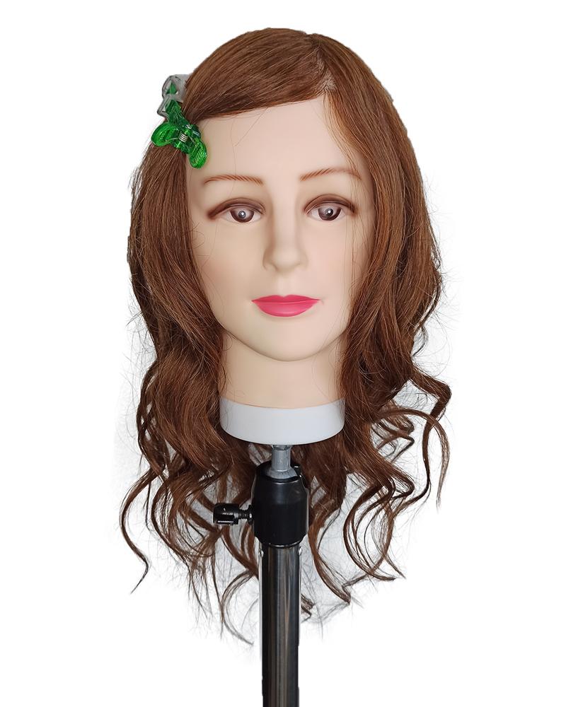 """Голова-манекен """"Карина"""" 100% натуральный коричневый 50-55см"""