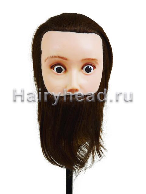 Мужская голова «Тарзан» 20см 100% натуральный волос