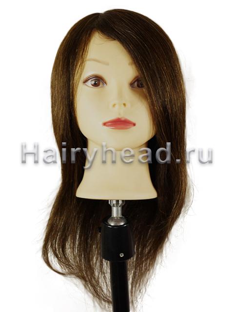 Парикмахерская голова «Анжелика» 70% натуральных волос