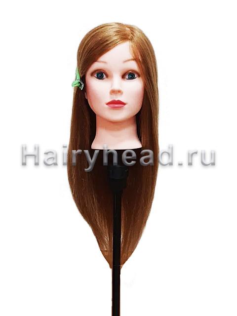 Учебная манекен голова Алиса 40/60 смешанные волосы